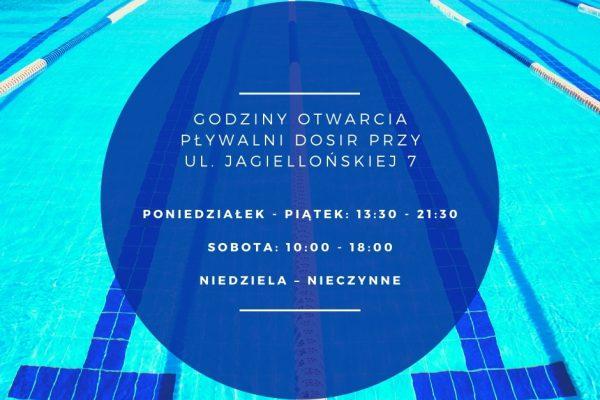 Godziny otwarcia pływalni DOSiR przy ul. Jagiellońskiej 7