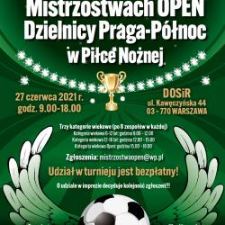 Mistrzostwa OPEN Dzielnicy Praga-Północ w piłce nożnej.