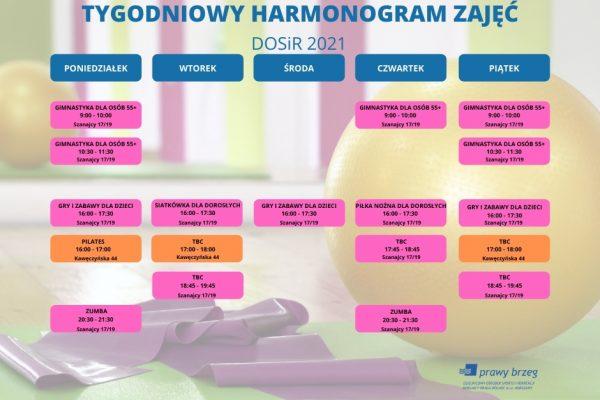 Harmonogram zajęć DOSiR 2021 facebook